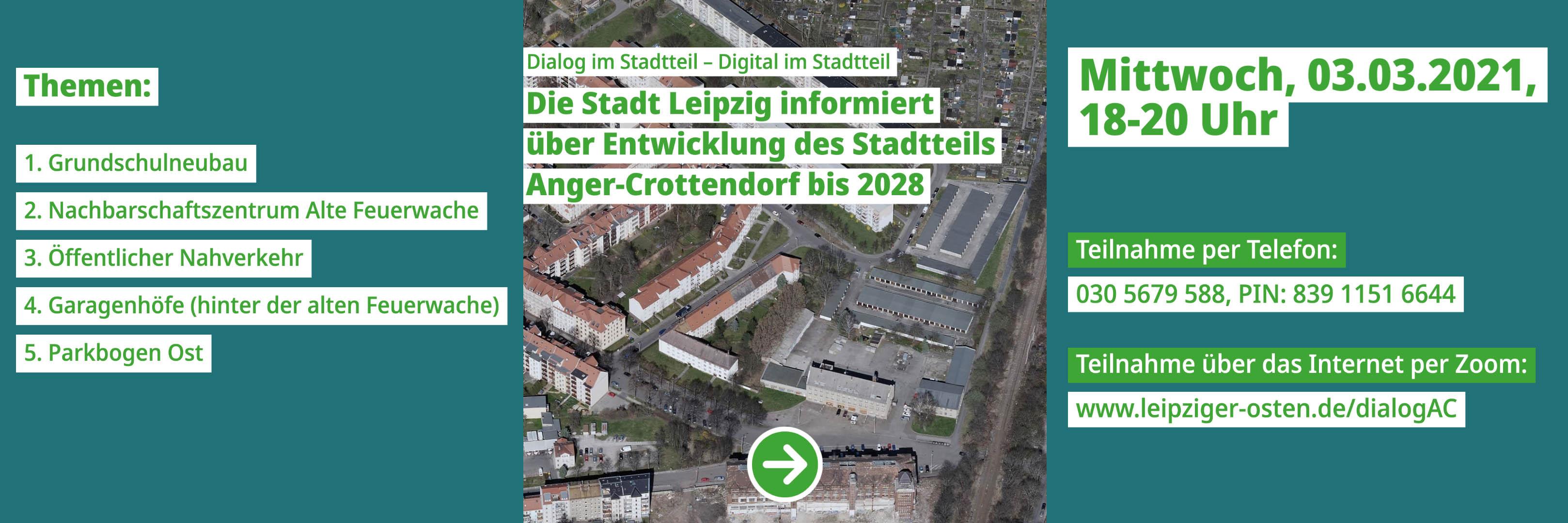 Die Stadt Leipzig informiert über Entwicklung des Stadtteils Anger-Crottendorf bis 2028